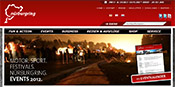 screenshot: homepage Nürburgring
